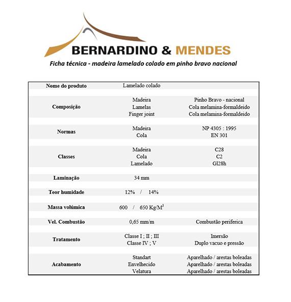 Ficha Técnica Bernardino e Mendes